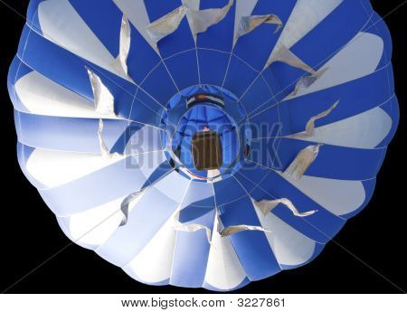 Isolated Colorful Hot Air Balloon.