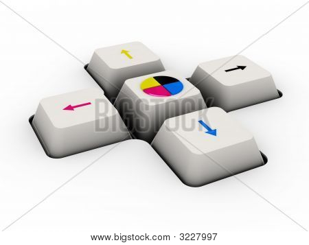 Cmyk Keyboard Button