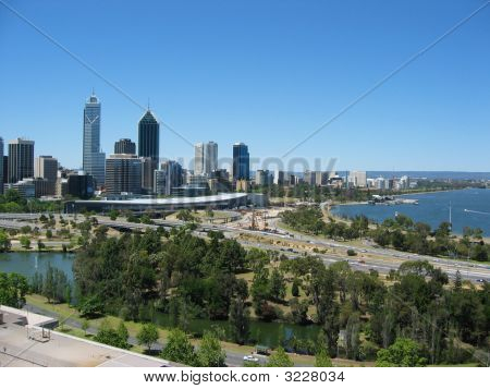 Perth City Skyline From King Park
