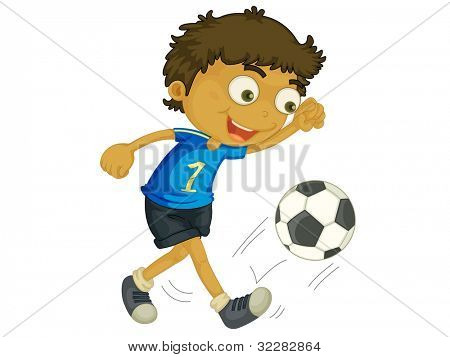 Illustration of a child playing football - EPS VECTOR format also available in my portfolio.