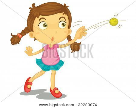 Illustration of a child throwing a ball - EPS VECTOR format also available in my portfolio.