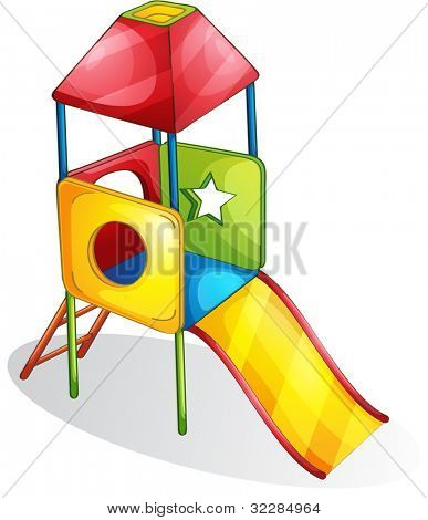 Illustration of a colorful slide - EPS VECTOR format also available in my portfolio.