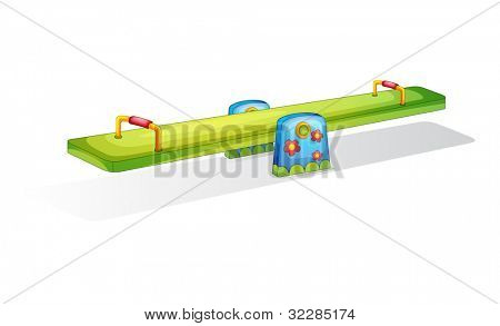 Illustration of a colorful see saw isolated on white - EPS VECTOR format also available in my portfolio.