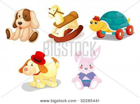 Illustration of a set of toys - EPS VECTOR format also available in my portfolio.