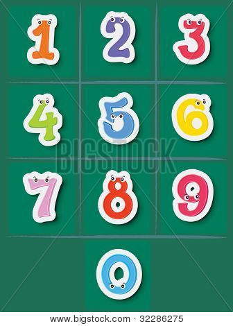 Illustration of a set of numbers from 0 to 10 - EPS VECTOR format also available in my portfolio.