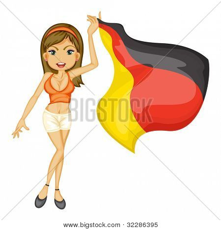 Illustration of a sexy woman cheering for german - EPS VECTOR format also available in my portfolio.