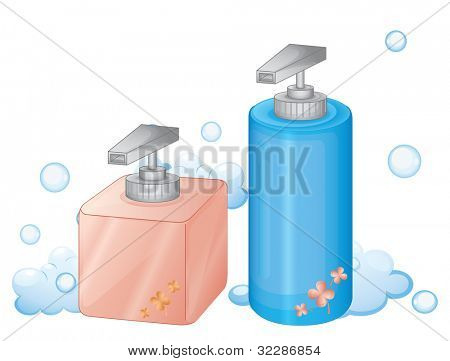 illustration of dispenser bottles on a white background - EPS VECTOR format also available in my portfolio.