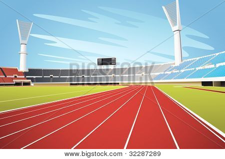 Sporting stadium illustration in detail - EPS VECTOR format also available in my portfolio.