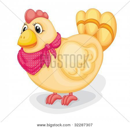 illustration of toy hen on a white background - EPS VECTOR format also available in my portfolio.
