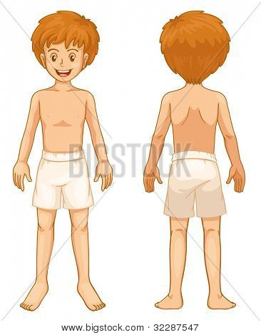 Illustration of teen front and back - EPS VECTOR format also available in my portfolio.