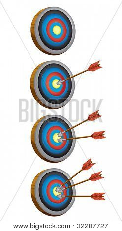 illustration of arrow target game on a whote baackground - EPS VECTOR format also available in my portfolio.