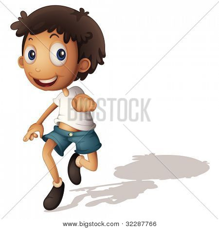 Illustration of a 3D looking boy on white - EPS VECTOR format also available in my portfolio.