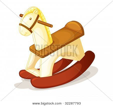 illustration of toy horse on a white background - EPS VECTOR format also available in my portfolio.