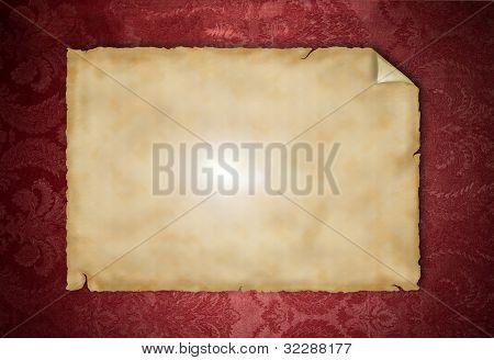 Blank vintage paper on grunge background