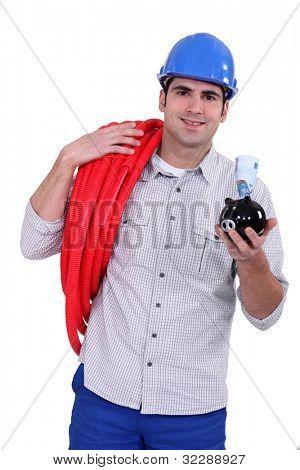 Portrait of a hard-working tradesman