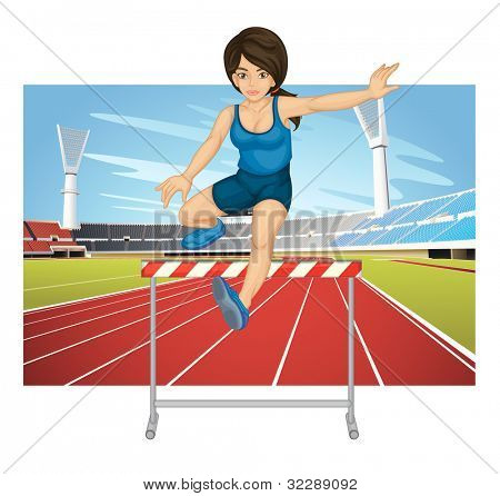 Illustration of woman jumping hurdle - EPS VECTOR format also available in my portfolio.