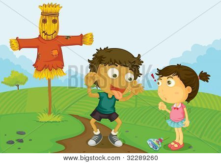 Illustration of friends at a farm - EPS VECTOR format also available in my portfolio.