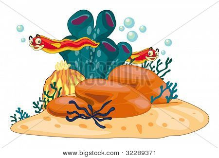 Illustration of underwater scene - EPS VECTOR format also available in my portfolio.