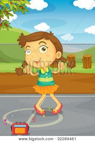Illustration of a kid in a park - EPS VECTOR format also available in my portfolio.