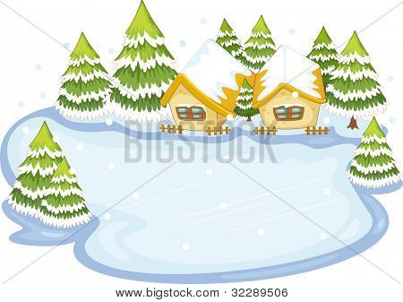 Empty camp ground illustration on white - EPS VECTOR format also available in my portfolio.
