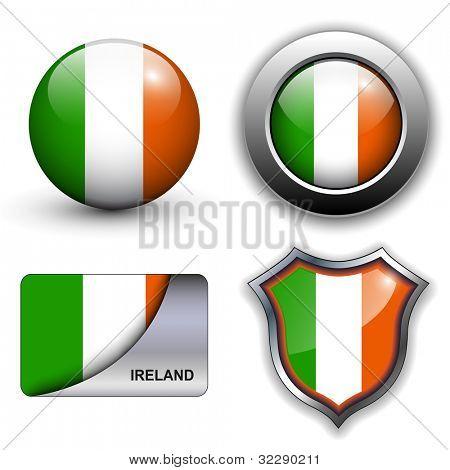 Ireland flag icons theme.