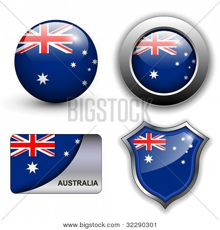 Australia flag icons theme.