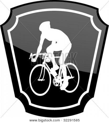 Radfahrer auf emblem