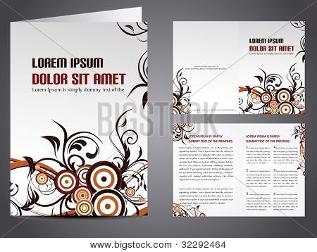 Professional business catalog template or corporate brochure design with inner pages for document, publishing, print and presentation. Vector illustration in EPS 10.