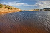 foto of horsetooth reservoir  - windy mountain lake  - JPG