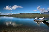 foto of hydroplanes  - Flying boat on the Lake Te Anau South island New Zealand - JPG