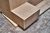Nightstand Building Process. Wooden Furniture Manufacturing Process. Furniture Manufacture. Close-up poster