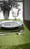 image of banquette  - An tasteful table setting in the afternoon  - JPG
