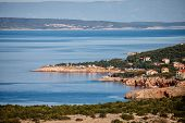 Summer Evening Adriatic Sea Coastline View In Croatia, Kvarner Bay Near Novy Vinodolski poster