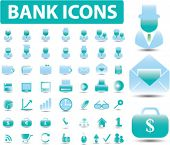 50 bank icons. vector. easy to edit