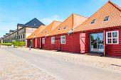 Street View In Old Historic Center Of Copenhagen, Denmark. poster