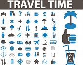 image of transportation icons  - travel time signs - JPG