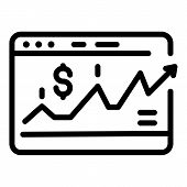 Web Investor Money Icon. Outline Web Investor Money Vector Icon For Web Design Isolated On White Bac poster