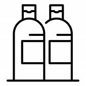 Shampoo Bottles Icon. Outline Shampoo Bottles Vector Icon For Web Design Isolated On White Backgroun poster
