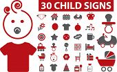 30 cute child signs. vector