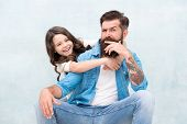 Strengthening Father Daughter Relationships. Child And Dad Best Friends. Friendly Relations. Fathers poster