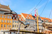Copenhagen Iconic View. Famous Old Nyhavn Port In The Center Of Copenhagen, Denmark During Summer Su poster