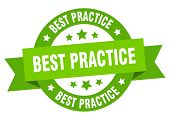 Best Practice Ribbon. Best Practice Round Green Sign. Best Practice poster