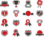 awards icons, signs, vector illustrations