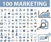 marketing & management icons set, vector