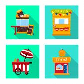 Isolated Object Of Amusement And Store Icon. Collection Of Amusement And Urban Stock Vector Illustra poster