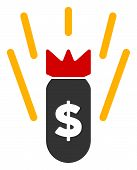 Vector Financial Crisis Bomb Flat Icon. Vector Pictograph Style Is A Flat Symbol Financial Crisis Bo poster