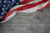 American National Holiday. Us Flag Background With American Stars, Stripes And National Colors. poster
