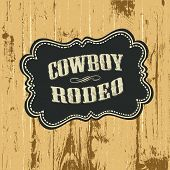 pic of wild west  - Grunge background with wild west styled label - JPG