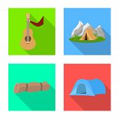Vector Design Of Tourism And Excursions Icon. Collection Of Tourism And Rest Vector Icon For Stock. poster
