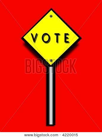 Sinal de encorajamento de votação